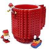 Matériau: plastique sans BPA   Capacité: 12 onces / 350ML   Chacun avec deux paquets de briques, environ 8 à 10 blocs qui peuvent être reconstitués ensemble   Note:  1- Cette tasse n'est pas officiellement sous licence par PixelBlocks, Mega Bloks, KR...