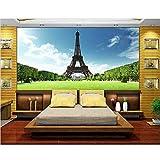 Qbbes Fondo De Pantalla 3D Personalizado Para Fondos De Pantalla Murales De Pared 3D Torre Eiffel, París, Francia, Gustaf 3D Pared De Fondo Decoración Del Hogar-250X175CM
