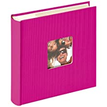walther design ME-110-Q Fun Trend high quality memo slip-in album with die cut for your personal picture, for 200 photos, 4 x 6 inch (10 x 15 cm), pink