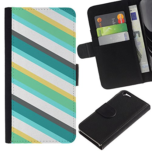 Graphic4You GOLDEN HOLES Muster Brieftasche Leder Hülle Case Schutzhülle für Apple iPhone 6 / 6S Design #19