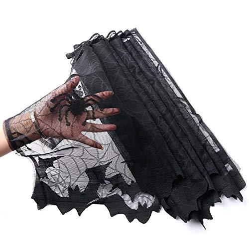 earlyad Lampenschirm Halloween Lace Spider Bat Shade Dekoration Spider Net Vorhang Dekoration 60x20inch