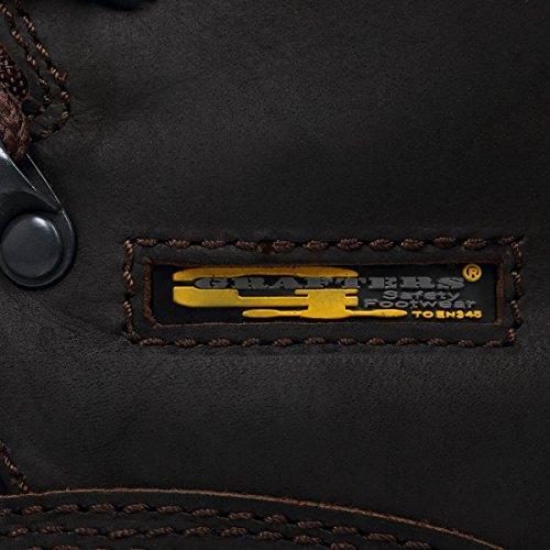 Grafters , Chaussures de sécurité pour homme Marron Marron marrón - marrón