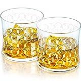 Vasos de Whisky Grabados FLORUS | Hecho en Europa | Caja de regalo |...