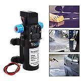 GOTOTOP 12V 60W 5L/Min Hochdruckpumpe Membranpumpe Wasserpumpe Hochdruck Pumpe