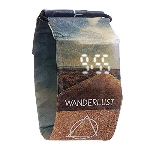 Digital Uhren Herren Papier Uhren Casual Uhren aus Papier wasserdicht Super Licht Dauerhaft mit Magnetsystem für Männer, Frauen, Mädchen, Jungen etc