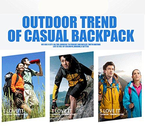 25L Professionelle Trekking Rucksäcke Camping Tasche wasserdicht Nylon Wandern Rucksack Outdoor Sports Rucksack Bergsteigen Travel Bags Schwarz