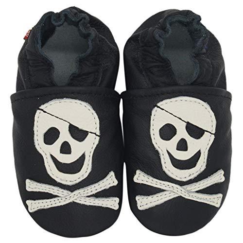 Carozoo Pirate Noir (Pirate Black), Chaussures Bébé Semelle Souple Fille