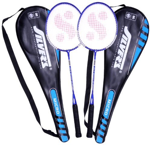 Silver's Micro Badminton Racquets, 2 pieces with cover