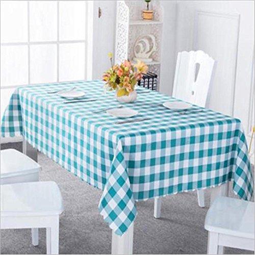 FFJTS Multi - Art Gitter Stoff Picknick Tuch Hotel Tischdecken , 120*160 (Baumwoll-mischungen Gitter-muster,)