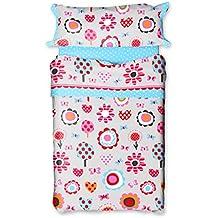 Burrito Blanco - Juego de sábanas 148 para cama 90x190/200 cm, color azul