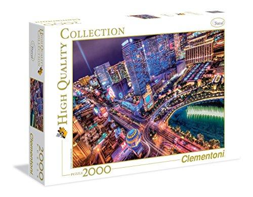 Clementoni - 325559 - Puzzle - Las Vegas - 2000 Pièces