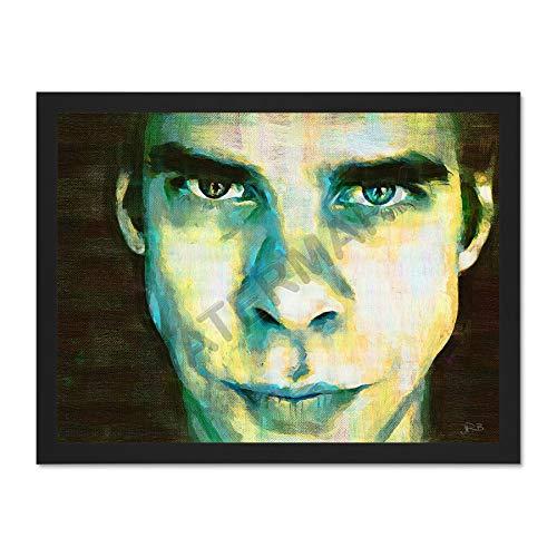 JR Bouvier Nick Cave Musician Large Framed Art Print Poster 18x24 inch Ready to Hang Musik (Musik Jr Nick)