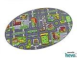 Stadt Mix HEVO ® Strassen Spielteppich   Kinderteppich 125x195 cm Ellipse