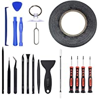 MPTECK @ 20 in 1 Schraubendreher Reparatur Öffnung Werkzeug Set Profi Reparatur Werkzeug Set Tool kit für Handy Smartphone Microsoft Nokia Lumia Apple iphone 6 6S PLUS 6 6 Plus 5 5s 5c 4s 4 3G 3GS Samsung Galaxy S2 S3 S4 S5 S6 mini Note Active Zoom Plus Neo Ace Note Sony Wiko Cubot Medion HTC LG Mobistel Huawei Motorola Acer Swees ZTE Xiaomi Hisense Lenovo Smart Phone Pad iPods Tablets Laptops Multimedia PC Uhren Brillen oder andere Kleingeräte