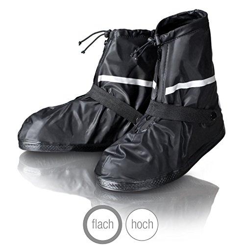 Amazy copriscarpe impermeabili incl. sacca portaoggetti gratuita - copriscarpe pioggia, antiscivolo e impermeabili muniti di riflettori - uso notturno per bici, moto con pioggia e neve.