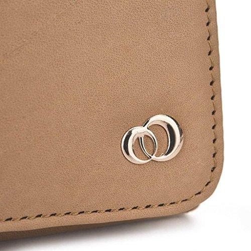 Kroo Pochette en cuir véritable pour téléphone portable pour Allview P7Bouddhisme) Marron - peau Marron - marron