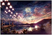 Stained Art Jigsaw Puzzle Kids Adult Literate Jigsaw Puzzle 1000 Piece - Fireworks At Night