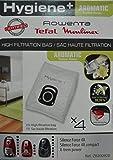 Rowenta ZR200920Sac pour aspirateur cylindrique, haute filtration, Blanc, Coton
