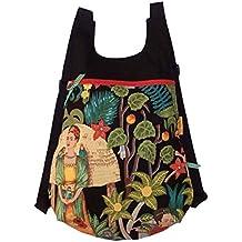 Mochila de tela Frida Kahlo, Mochila hecha a mano, Mochila original para mujer,