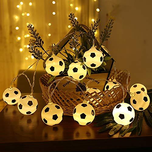 ter, Fußball geformte Seil Lampe MMTX LED lustige Schnur Lichter Innenfeenhafte Lichter Fußball Hauptdekorations Licht für Fußball Weltfeier 2018 Russland FIFA. ()
