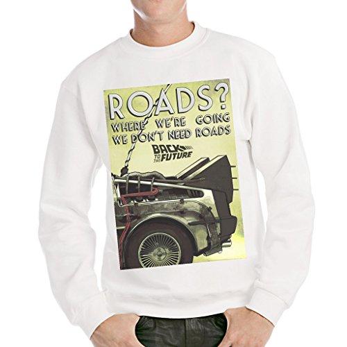 MUSH Sweatshirt Zurück In Die Zukunft - Film by Dress Your Style - Herren-XL-Weiß Lost-t-shirt Sweatshirt
