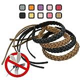 Kinven Anti-Mosquito Kunstlederarmbänder - Frei von DEET - Stilvolle Flechten