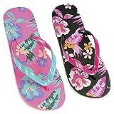 DINZIO Womens/Ladies Floral Print Flip Flops