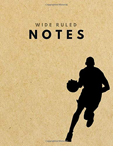 Wide Ruled Notes: Basketball Brown Paper Soft Cover | Large (8.5 x 11 inches) Letter Size | 120 pages | Lined Retro Notebook (no margins) por big word notebooks