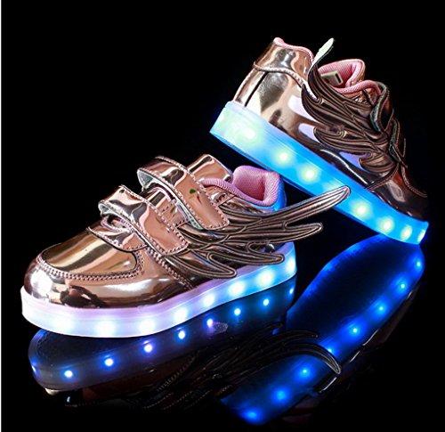 ACME LED Schuhe Sportschuhe Sneaker Turnschuhe mit USB Aufladen für kinder Jungen Mädchen -1133 Lila