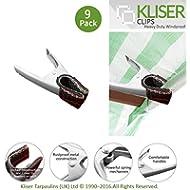 10,2cm lang winddicht Marktstand Clips–Robuste Metall Konstruktion (9Stück Clips)