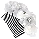 Unique Indian Crafts Silver ,exclusive hand crafted Foam sheet work Hair Comb for Women (UC41 (1))