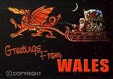 'Zweisprachige walisische Weihnachtskarte, Motiv von John Upton: Dragon Power