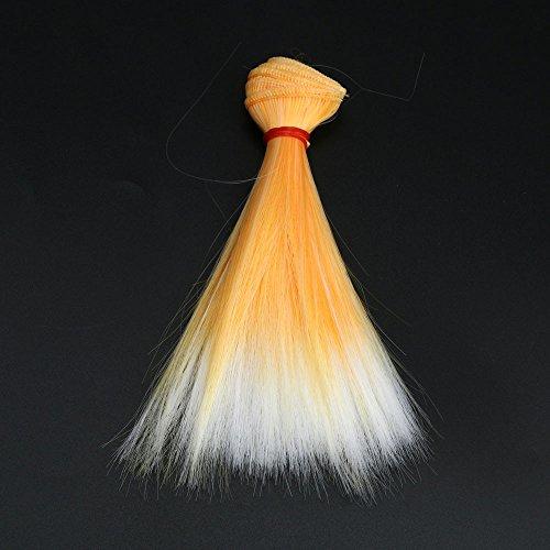 Berrose 15cm Gradient Perücke Mode Glattes Haar Großhandel Puppe Frauen Synthetische Gradienten Hellviolette Hitzebeständige ()