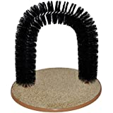 Arch Bristles Cats And Kittens Self-Groomer Massager Scratcher Catnip