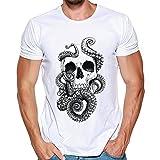 T-Shirt Sunnyadrain Kurzer Ärmel O-Neck Muster Plus Größe Sommer Top Tank Bluse Casual Sport Fitness Herren