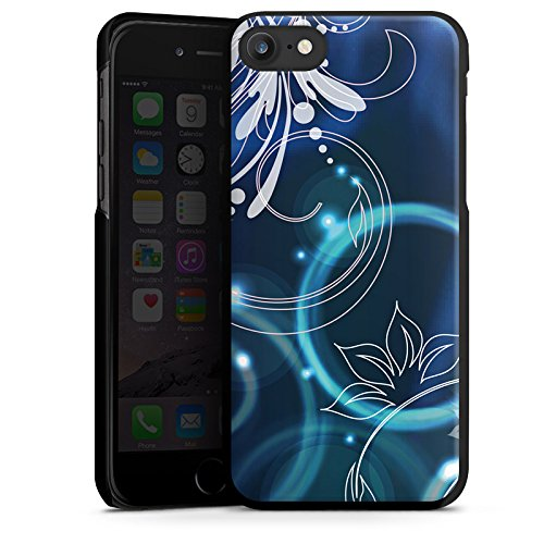 Apple iPhone X Silikon Hülle Case Schutzhülle Ornamente Blumen Seifenblasen Hard Case schwarz
