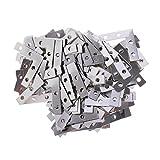 Baoblaze 100 Stücke Metall Flachverbinder Verbindungsbleche Verbinder Holzverbinder für Bilderrahmen Hochzeitsfoto Fotorahmen zum Fixieren Reparieren Verstärken