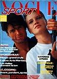 VOGUE SPORT du 01/09/1984 - SPECIAL MODE - AUTO - SPORTSWEAR - PILOTES GRAND STYLE - L'ALLURE ARTS MARTIAUX -...