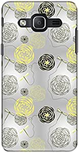 The Racoon Grip printed designer hard back mobile phone case cover for Samsung Galaxy On7. (Yellow Dra)