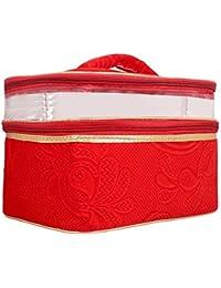 Roshiaaz Cosmetic Organizer Pouch Bag For Women | Vanity Box, Red