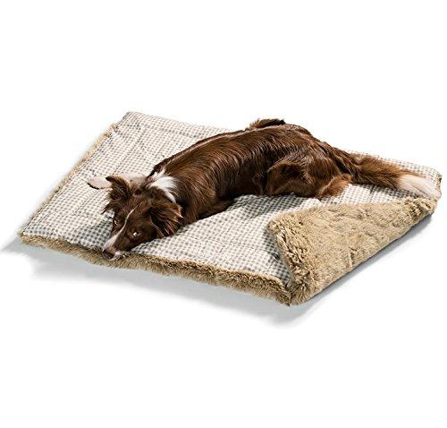 hundeinfo24.de Hunter® Hundedecke Astana beige-braun Hundebett Hundekorb