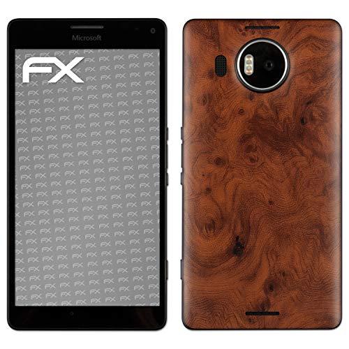 atFolix Skin kompatibel mit Microsoft Lumia 950 XL, Designfolie Sticker (FX-Wood-Root), Holz-Struktur/Holz-Folie