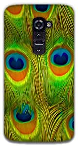 The Racoon Grip Bright Feathers hard plastic printed back case / cover for LG G2