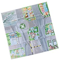 MagiDeal Road Sign Drawing Parking Lot City Scene Diagram Figures Toys for Kids