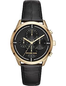 Michael Kors Damen-Armbanduhr Quarz One Size, schwarz, schwarz