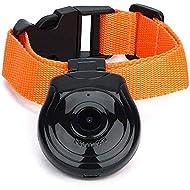 KOBWA Dog Collar Camera, USB Digital Pet Collar Camera Mini DVR Video Recorder Monitor Support TF Memory Card for Dog Cat Puppy(Black)