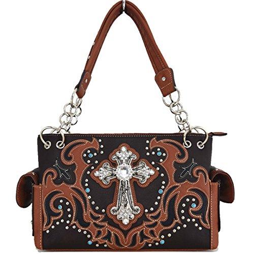 Blancho Biancheria da letto delle donne [religiosa] borsa dellunità di elaborazione di cuoio di modo elegante Borsa BROWN BAG-BROWN