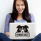 Cmdyz Border Collie Hundeknochen Vinyl Laptop Aufkleber Abnehmbare Tier Kunst Aufkleber Wand Windows Notebook Computer Auto Dekoration Zubehör Größe 14 Cm * 11 Cm