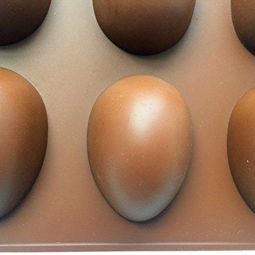 BESTOYARD, Stampo in silicone per ovetti di Pasqua, per cioccolatini, caramelle, uovo, torta, cupcake, colore casuale