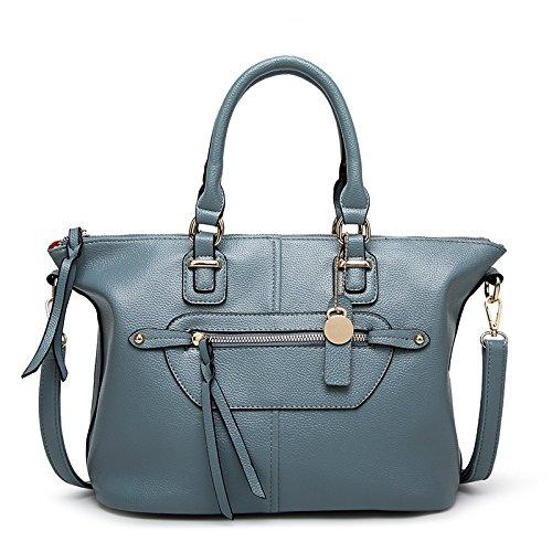 Mefly Moda Europea Nuova Lady Borsa Tracolla Messenger Bag Borsetta Claret blue